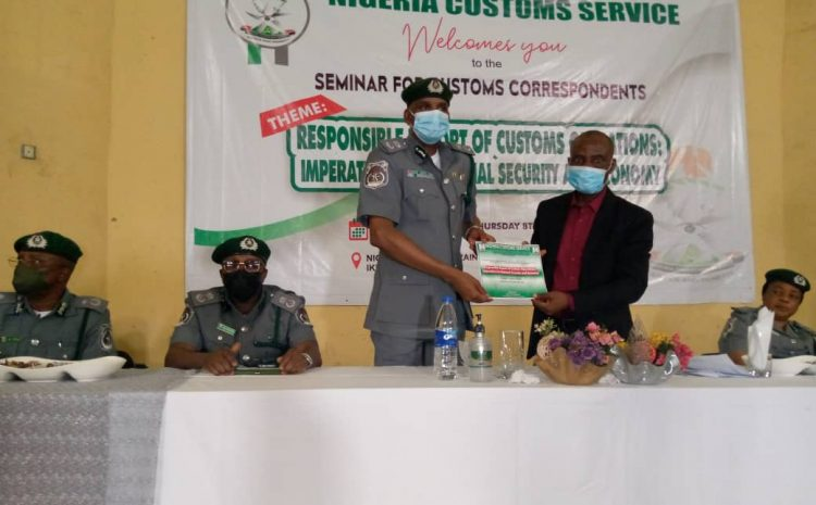 LAGOS JOURNALISTS BAG CERTIFICATES OF NIGERIA CUSTOMS TRAINING COLLEGE